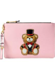 Moschino Toy Bear Clutch - Rosa
