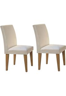 Cadeira Rufato Grécia Mdf Imbuia (2 Uni) Creme