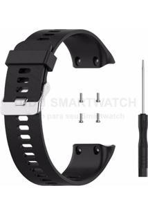 Pulseira De Silicone Tudo Smartwatch Para Garmin Forerunner 35 Preto