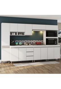 Cozinha Completa 13 Portas 3 Gavetas Triade Branco - Viero Móveis