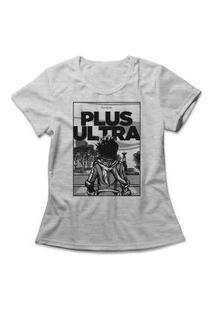 Camiseta Feminina Boku No Hero Ultra Plus Cinza