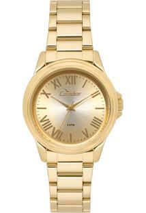 16c309f8141 ... Relógio Feminino Condor Analógico Co2039Bc 4D Dourado