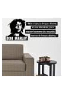 Adesivo De Parede Frase Bob Marley - G 60X148Cm