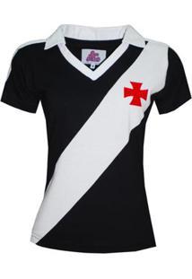 Camisa Polo Liga Retrô Vasco 1989 Feminina - Feminino