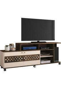 Rack Bancada 2 Portas Para Tv Atã© 47 Pol. Inovatta Deck/Off White - Hb Mã³Veis - Off-White - Dafiti