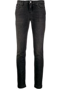 Dolce & Gabbana Calça Jeans Cintura Baixa - Preto