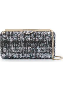Jimmy Choo Clutch Ellipse Com Glitter - Preto