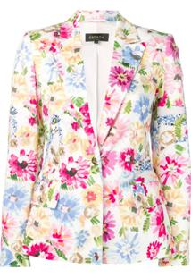 Escada Floral-Print Blazer - Branco