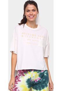 Camiseta Colcci Diferença Eco Active Feminina - Feminino-Off White