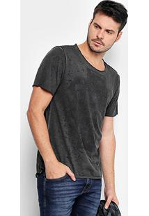 Camiseta Opera Rock Estampada Marmorizada Masculina - Masculino-Preto