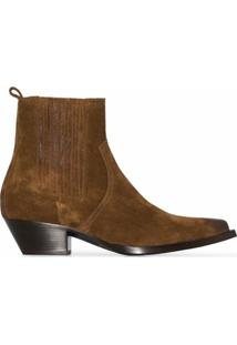 Saint Laurent Ankle Boot Lukas - Marrom