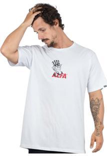 Camiseta Alfa Sam Masculina - Masculino-Branco