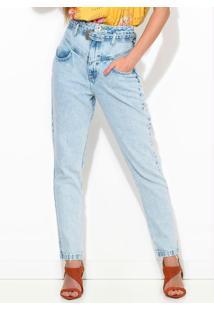 Calça Jeans Camila Com Cinto Azul