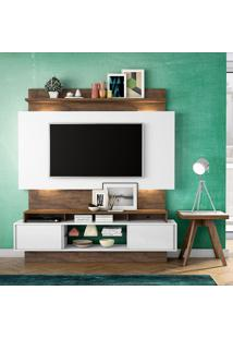 Painel Para Tv Tb112L Com Led Off White/Nobre - Dalla Costa