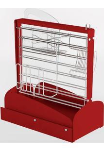 Coluna Organizadora Para Cozinha Vermelho