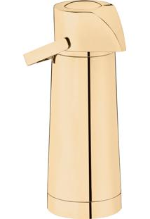 Garrafa Térmica Pump Com Ampola 1,8L Inox Revestido Em Ouro 24K – Riva