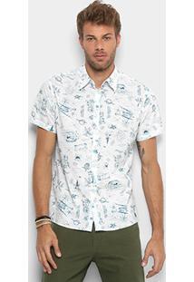 78a62f4dd ... Camisa Colcci Estampada Masculina - Masculino-Azul+Branco