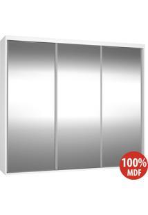 Guarda Roupa 3 Portas De Espelho 100% Mdf 1987E3 Branco - Foscarini