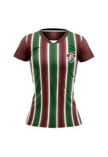 Camiseta Fluminense Braziline Keeper Feminina - Tricolor