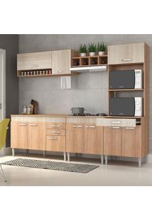 Cozinha Compacta C/Tampo Classic02 Fosco Flex Bordô – Fellicci - Carvalho / Blanche