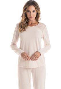 Pijama Rafaella Longo Rosa Blush/M