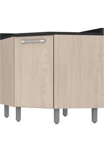 Armário De Cozinha Canto 1 Porta Smart C167-42 Bege - Pnr Móveis
