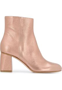 Red Valentino Ankle Boot Red(V) Metalizada - Rosa