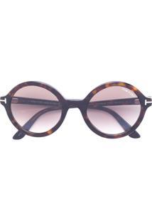 Tom Ford Eyewear Óculos De Sol Armação Redonda - Marrom