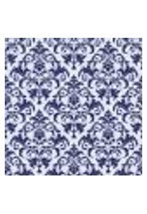 Papel De Parede Adesivo - Damasco Azul Marinho - 011Ppv