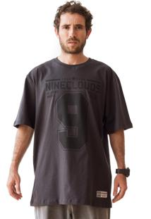 Camiseta Nineclouds Skateboards Army Chumbo