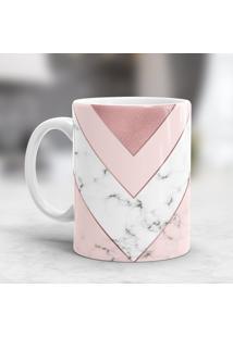 Caneca Porcelana Wevans Pink Geometric