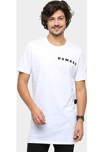 Camiseta Ellus Long Cotton Damage Masculina - Masculino