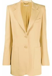 Stella Mccartney Blazer Longo Com Abotoamento Simples - Amarelo
