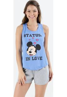 Pijama Short Doll Feminino Minnie Disney