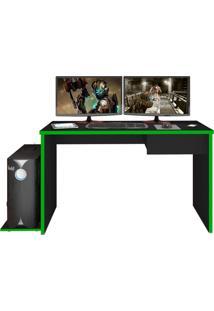 Mesa Para Computador Notebook Desk Game Drx 8000 Preto/Verde - Mpozenato