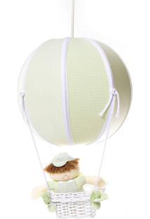 Lustre Balão Bolinha Quarto Bebê Infantil Menino Potinho De Mel Verde - Kanui