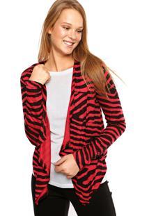 Cardigan Sofie Zebra Vermelho