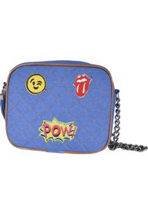 Bolsa Eagle Black Jeans Emoticons Azul