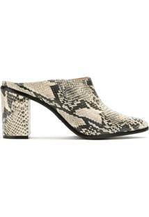 Schutz Ankle Boot Mule Animal Print - Neutro