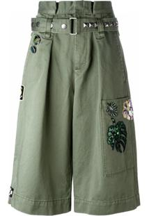 Marc Jacobs Bermuda Cargo Com Bordado - Green
