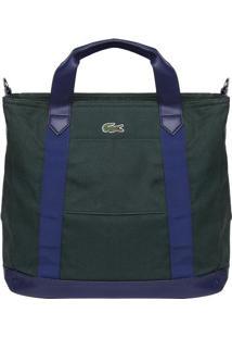 Bolsa Com Bordado - Verde Escuro & Azul Marinho - 36Lacoste