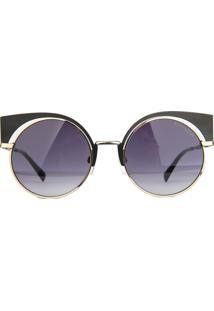 Óculos De Sol Atitude At3183 09A/53 Dourado - Kanui