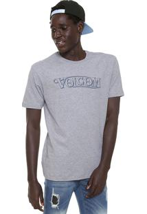 Camiseta Volcom Straight Up Cinza