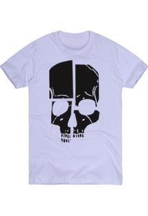 Camiseta Khelf Botonê Caveira Branco