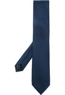 Tom Ford Gravata De Seda - Azul