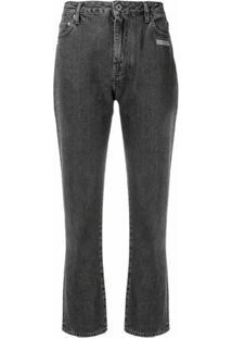 Off-White Calça Jeans Cropped - Cinza