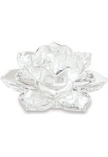 Flor Decorativa Lotus Incolor 7X15 Cm