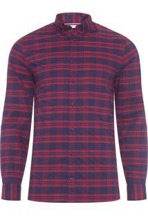Camisa Masculina Wcc Small Stripe - Vermelho