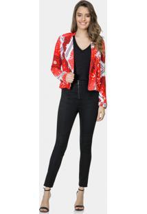 Jaqueta Estampada Em Tecido Bandana - Lez A Lez