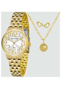 Kit Relógio Feminino Lince Lrgh071L Ku38S2Kx